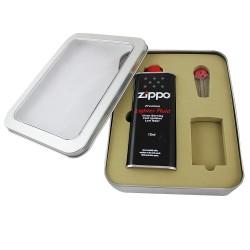 Puszka upominkowa na zapalniczkę Zippo (z benzyną i kamieniami)