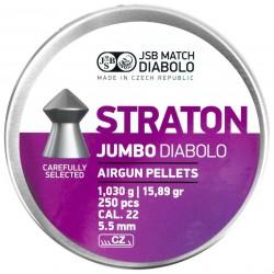 Śrut JSB Diabolo Straton Jumbo 5.5mm (.22) 250szt