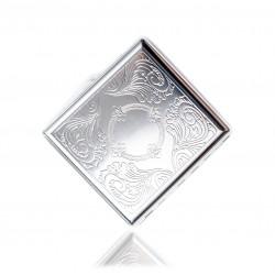 Klasyczna metalowa papierośnica cygarniczka wzór 2