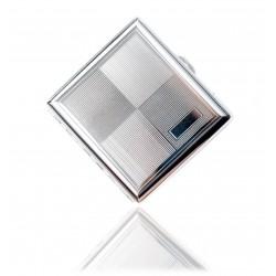 Klasyczna metalowa papierośnica cygarniczka wzór 3