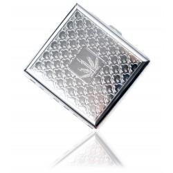 Klasyczna metalowa papierośnica cygarniczka wzór 5