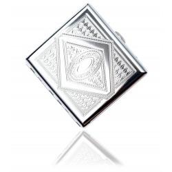 Klasyczna metalowa papierośnica cygarniczka wzór 6