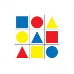 Tarcza - Figury geometryczne kolorowe. 10 szt.