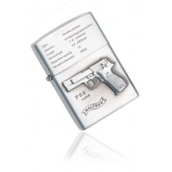 Zapalniczka benzynowa wzór Walther P88 silver
