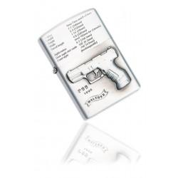 Zapalniczka benzynowa wzór Walther P99 silver