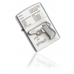 Zapalniczka benzynowa wzór Walther PPK silver