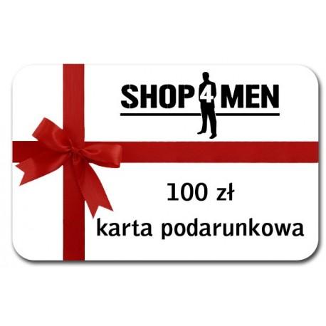 Karta podarunkowa shop4men o wartości 100 zł