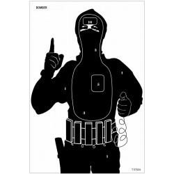 Tarcza sylwetkowa  terrorysta BOMBER 400 x 600 mm