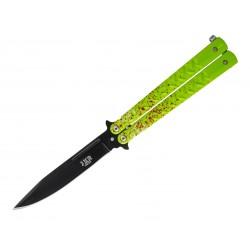 Nóż składany motylek Joker Aluminio Hoja 10,5 cm Zombie Green