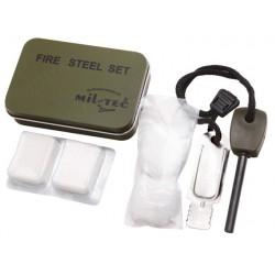 Zestaw survivalowy do rozpalania ognia Mil-Tec - Fire Steel Set Olive