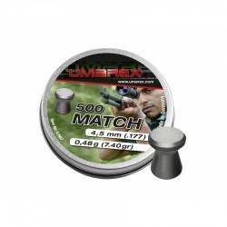 Śrut 4,5 mm UMAREX Match płaski 500szt.