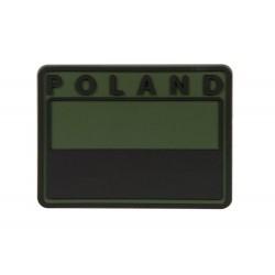 Emblemat patche flaga POLAND gaszona Olive Green