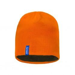 Czapka zimowa dwustronna orange / myśliwska