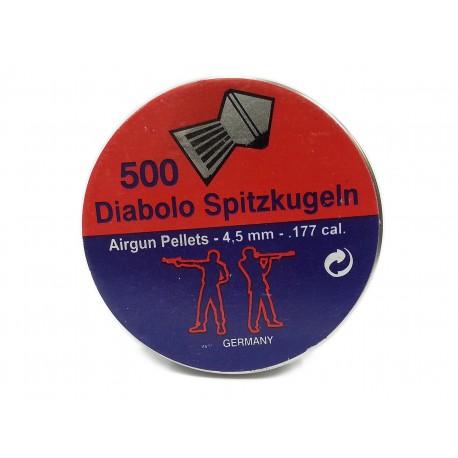 Śrut Spitzkugeln Diabolo 500 szt. 4,5 mm