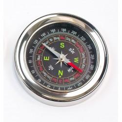 Kompas busola metalowy kieszonkowy dla turysty duży